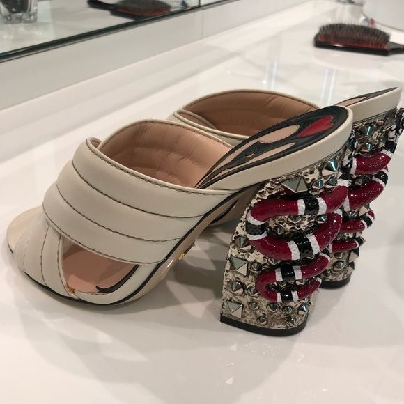 b843712a14d Gucci Shoes - Gucci Webby Snake Heel   Mule Authentic